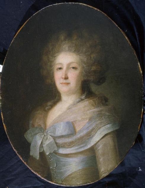 Рокотов Ф.С. (1736—1808). Портрет неизвестной в платье с голубыми лентами и бантом  (Н.Д. Офросимовой)