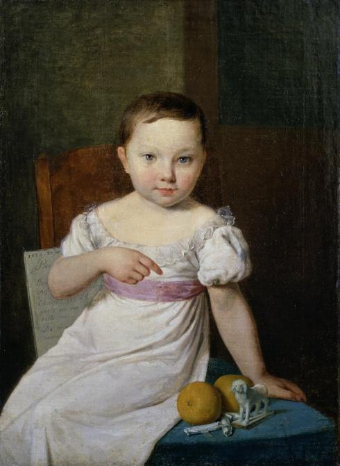 Венецианов А.Г. (1780—1847). Портрет Настеньки Хавской. 1826