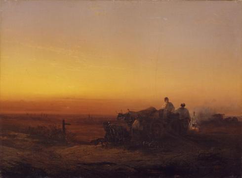 Саврасов А.К. (1830—1897). Чумаки. 1854