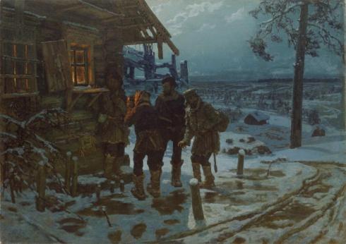 Савицкий К.А. (1844—1905). Христова милостыня (Беглые в Сибири). 1890-1897