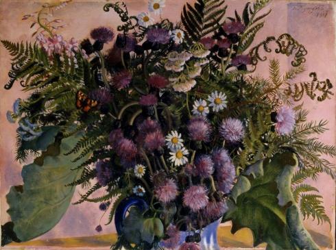 Кустодиев Б.М. (1878—1927). Финский букет. 1917
