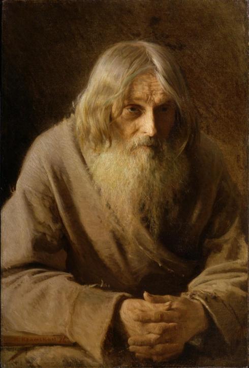 Крамской И.Н. (1837—1887). Старик-крестьянин. 1876