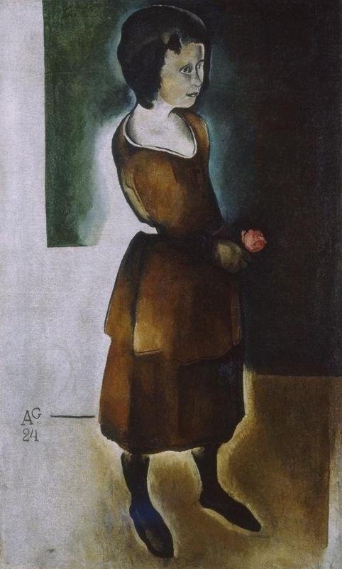 Гончаров А.Д. (1903 – 1979). Девочка с цветком.  1924