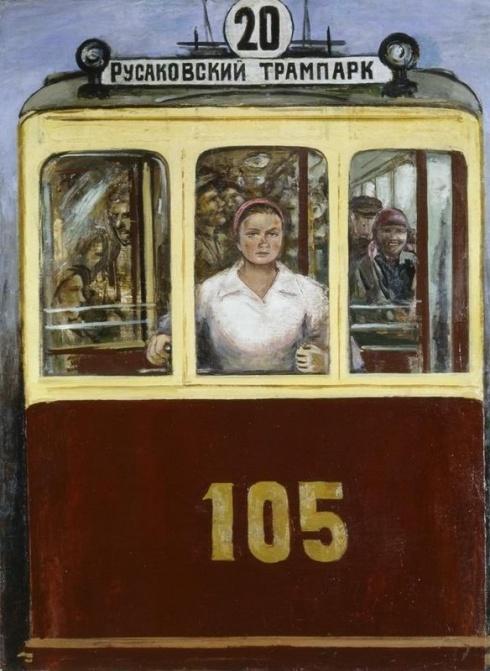 Адливанкин  С.Я. (1897-1966). Русаковский трамвай. 1928