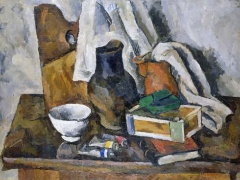 Кончаловский П. П. (1876-1956). Натюрморт с кувшином и кринкой. 1919