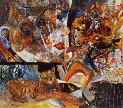 Глебова Т.Н. (1900-1985). Композиция (Портрет органиста И.А.Браудо). 1930