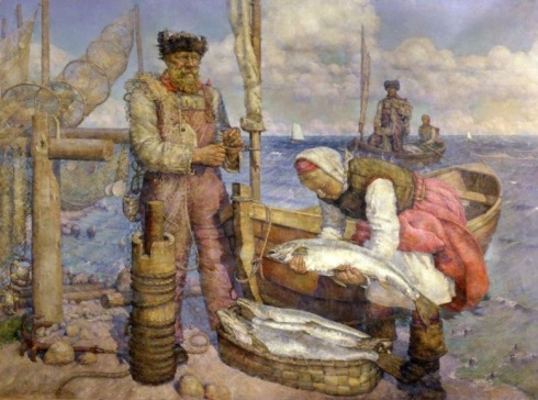 Рождественский В. В. (1884-1963). Беломорская путина. Колхозный лов семги. 1938-1948