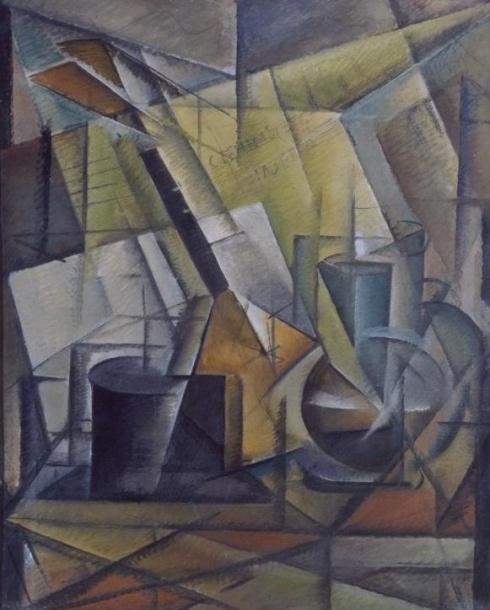 Соколов П. Е. (1882-1968). Натюрморт с балалайкой. 1920