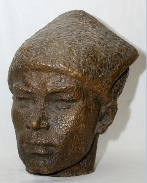 Михалёв В.А. (1926-1998). Портрет героя гражданской войны на Севере Романа Куликова. 1967