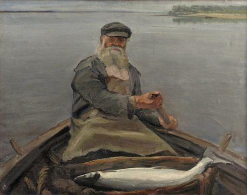 Румянцев А.Я. (1908 – 1969). Северодвинский рыбак. 1948