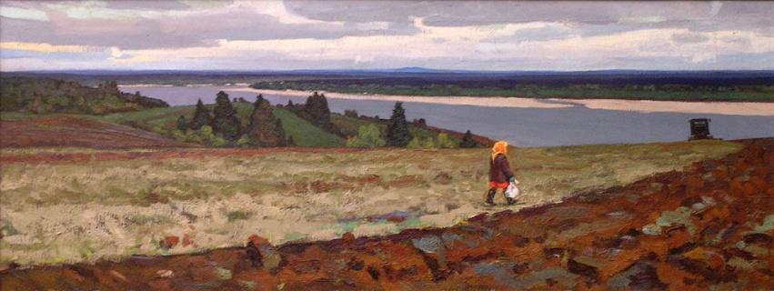 Фатьянов Ф.М. (1928-2007). На Мезени. 1964