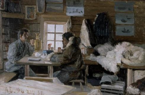 Борисов А.А. (1866–1934). В гостях у самоеда на Новой Земле. 1896