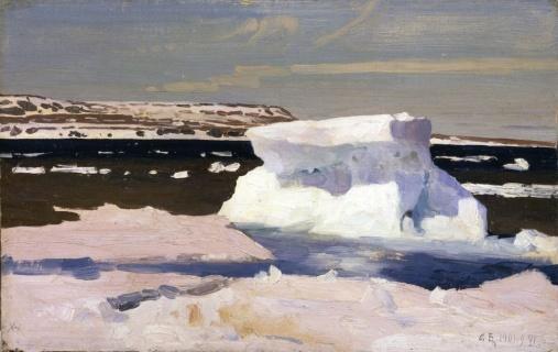 Борисов А.А. (1866–1934). Карское море. Вид Новой земли. 1901