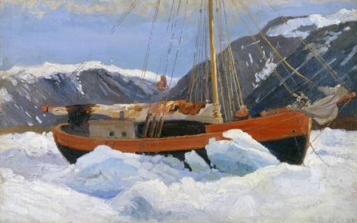Борисов А.А. (1866–1934). Судно во льдах (Яхта «Мечта»). 1899