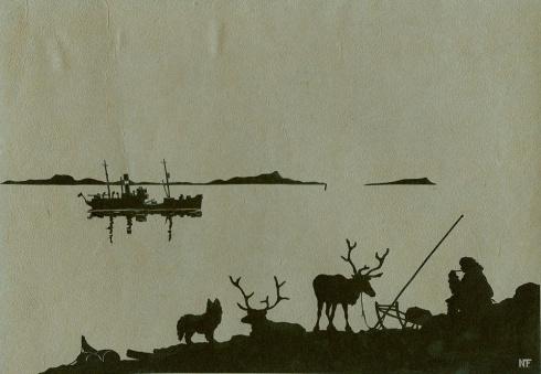 На краю тундры. 1940