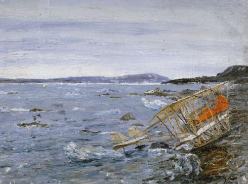 Самолёт Нагурского на Новой Земле. 1914