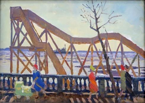 Американская горка в Архангельске. 1963