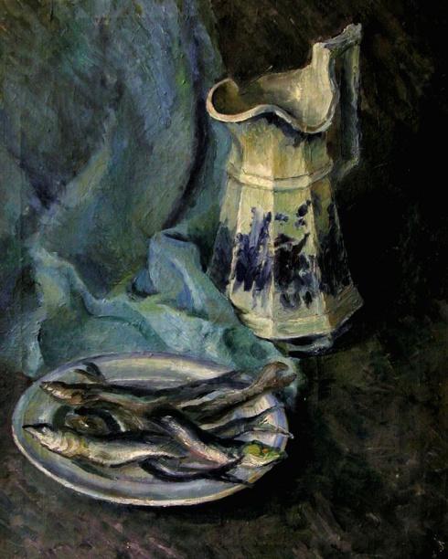 Натюрморт с селёдками. 1936