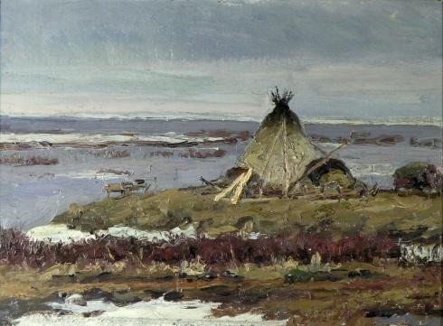 На берегу Шара. 1958
