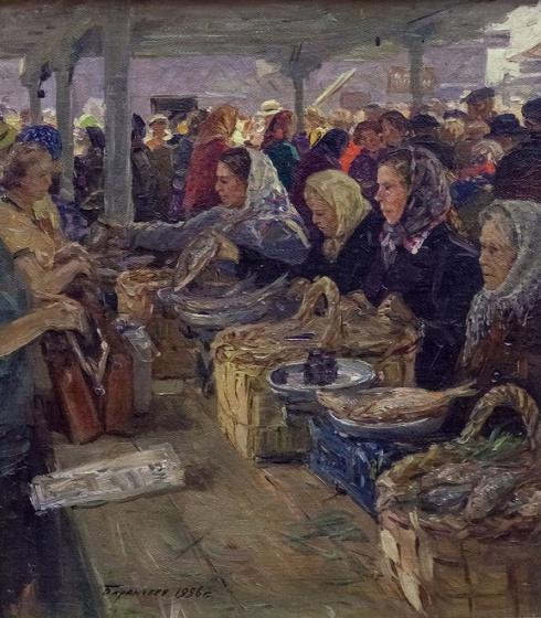 На рынке в Архангельске. 1956