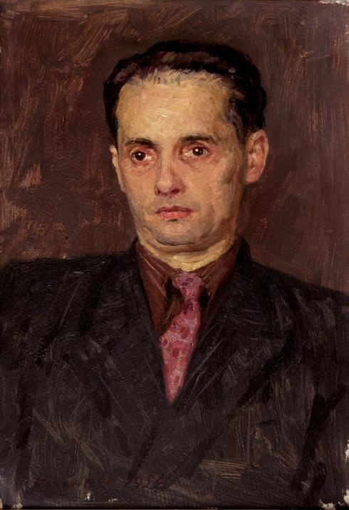 Портрет художника Л.В. Жигалова. 1954