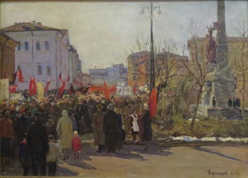 Первомайская демонстрация в Архангельске. 1954