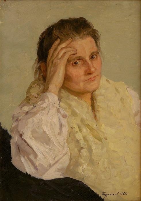 Портрет художницы Фатеевой. 1955