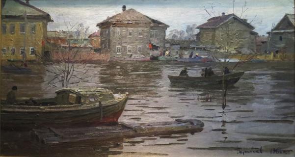 Разлив в Соломбале. 1966