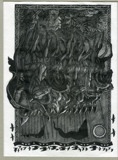 «Затмение». Илл. к «Слову о полку Игореве». 1948