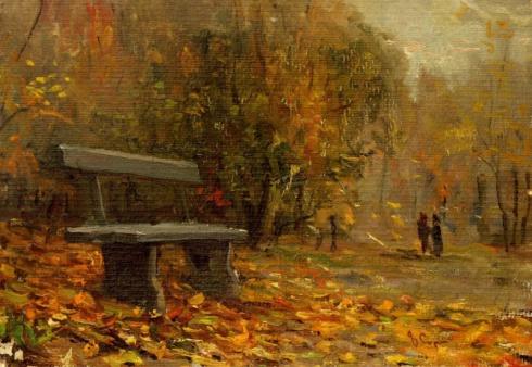 Этюд со скамейкой. 1957