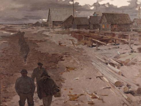 У Белого моря. 1965