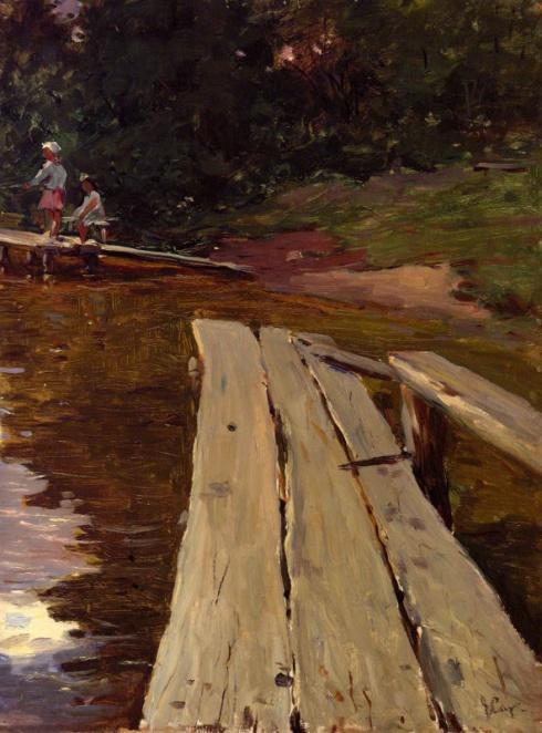 Мостик на озере. 1960