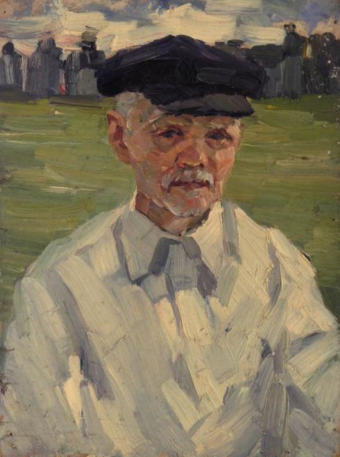 Портрет старика в белой рубашке. 1960-е