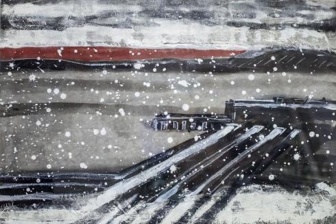 Снег в Вардё. 2015
