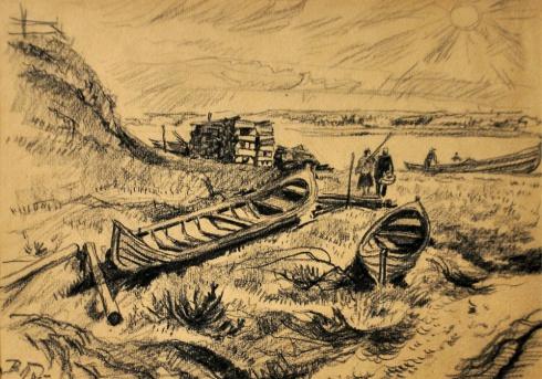 На реке Мезени. 1930-е