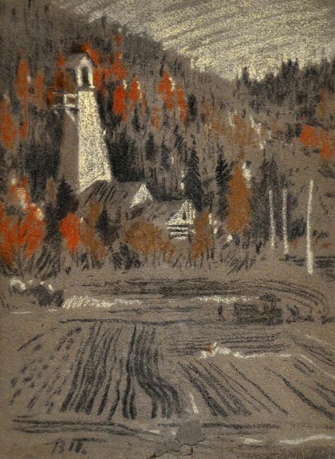 Буровая вышка в Ухте. 1935
