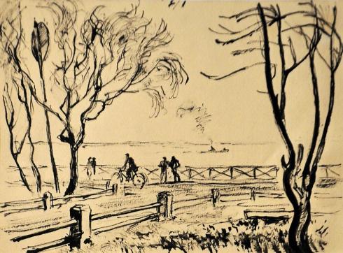 На набережной Северной Двины. 1930-е