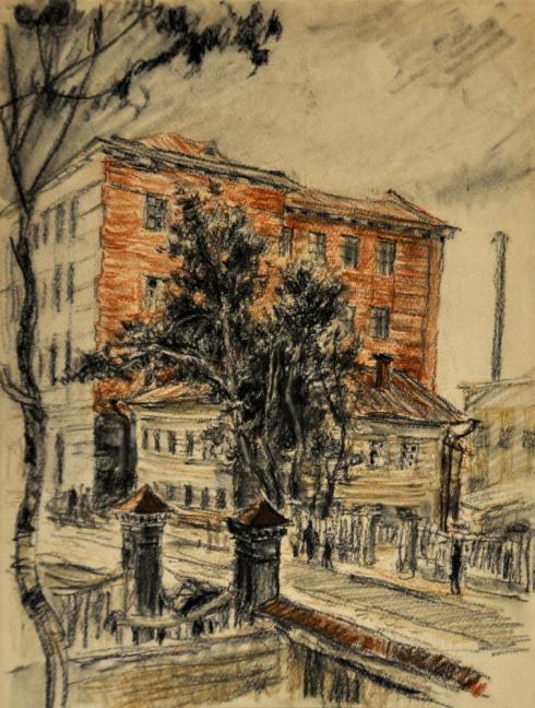 Около Здания мединститута. 1930-е гг.