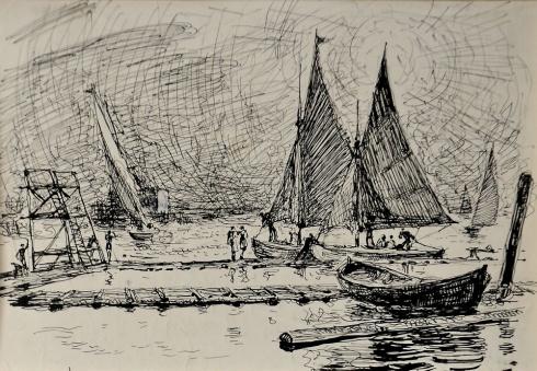 В гавани яхт-клуба. 1940