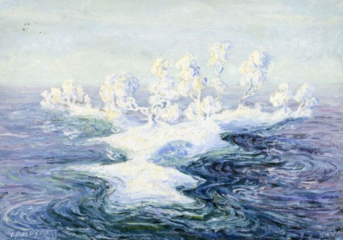 Причудливые облака на воде. 1910
