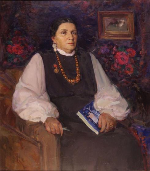 Портрет А.Я. Колотиловой. 1955