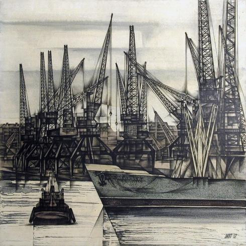 Порт Бакарица. Из серии «Архангельск». 1972