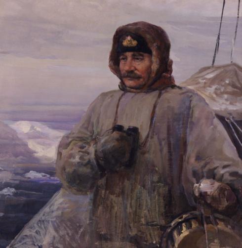 Портрет капитана В.И. Воронина. 1955
