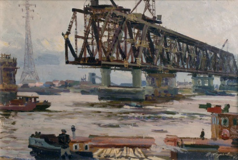 Мост строится. 1963