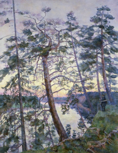Белая ночь на реке Пинеге. 1935