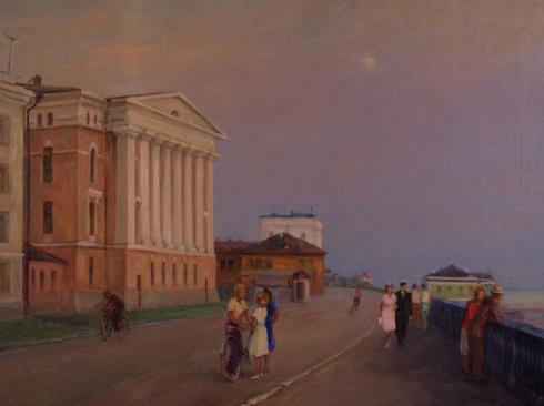 Архангельск. Набережная у ЦНИИМОДа. 1960-1961
