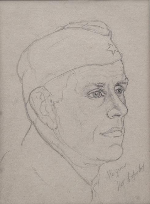 Не успел. Нет в живых. Портрет солдата. Нач. 1940