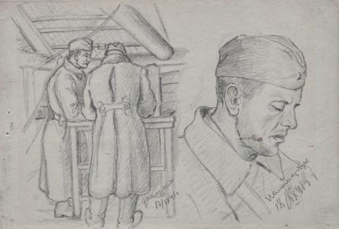 Закурка. Портрет Паламарчука. 1941