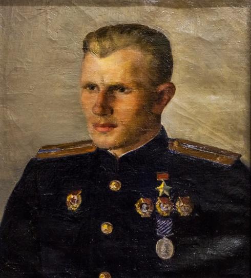 Портрет Героя Советского Союза П.Д. Климова