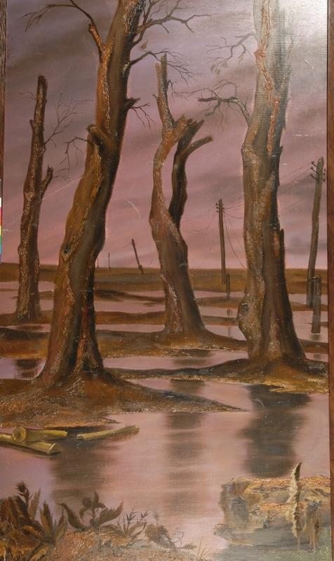 Сад войны. 1985 Левая часть триптиха «Сад войны»